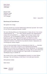 Bewerbungsschreiben Muster Bewerbungsschreiben Chemielaborant